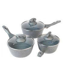 3pc Marblestone pan set