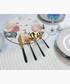 16pc Noir stainless steel cutlery set Sale - Salter Sale