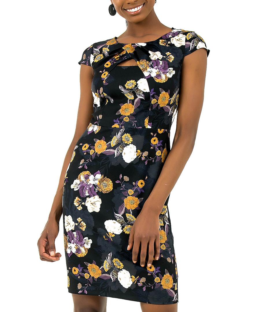 black floral sleeveless dress Sale - zibi london