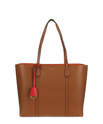 Perry tan leather tote