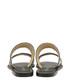 Black leather Aztec slip-on sandals Sale - ravel Sale