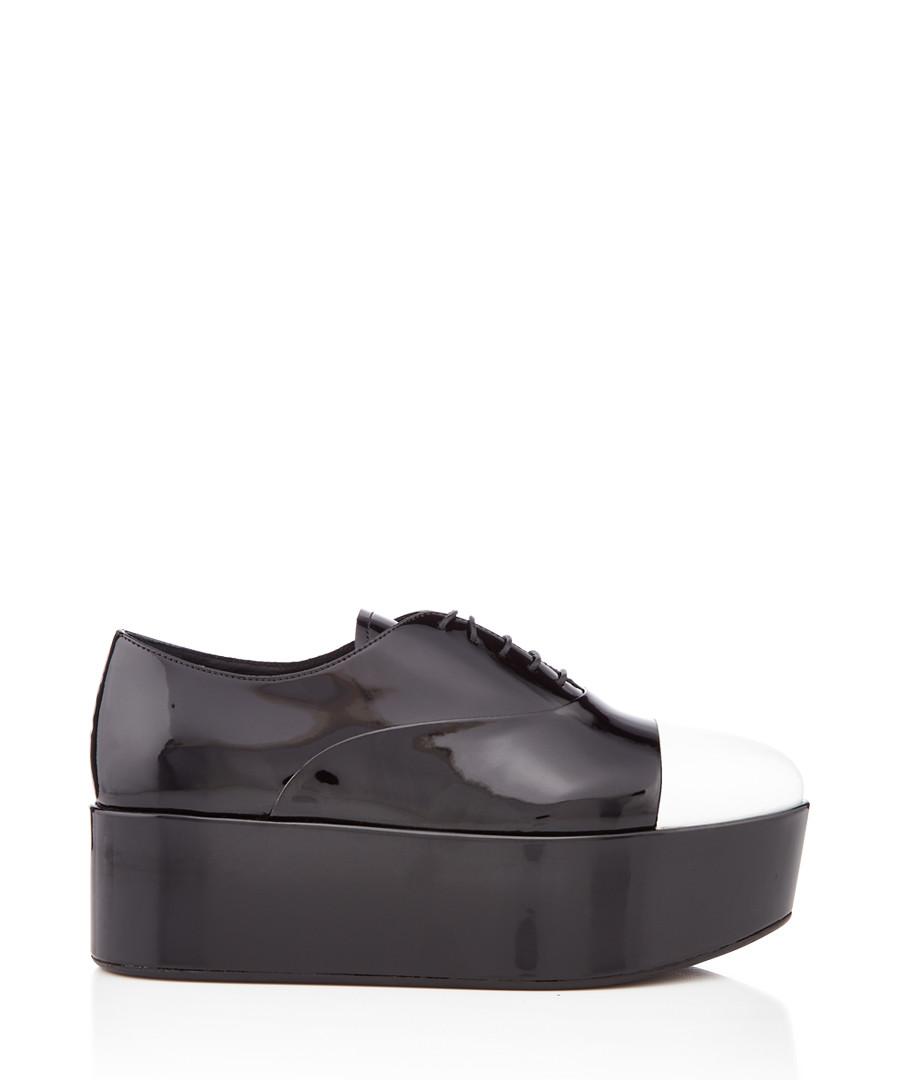 Black & white toe flatforms Sale - prada