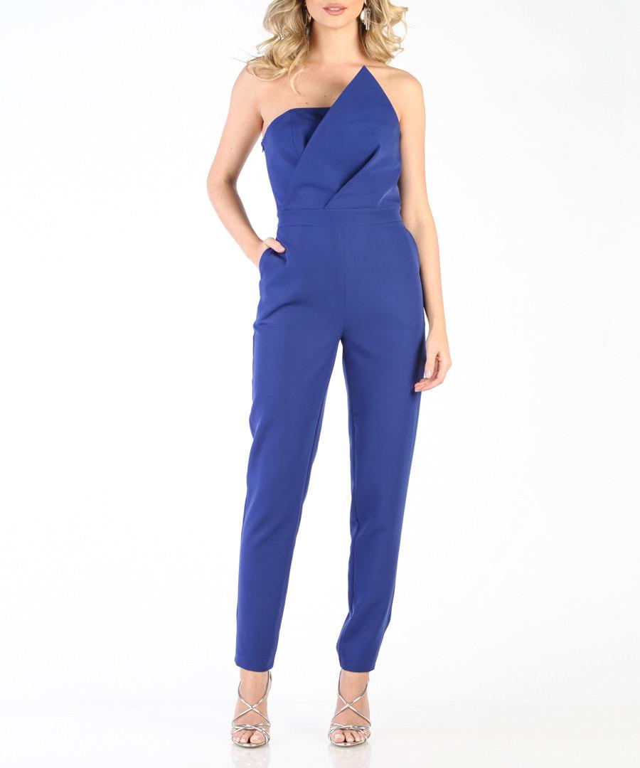 Royal blue strapless jumpsuit Sale - carla by rozarancio