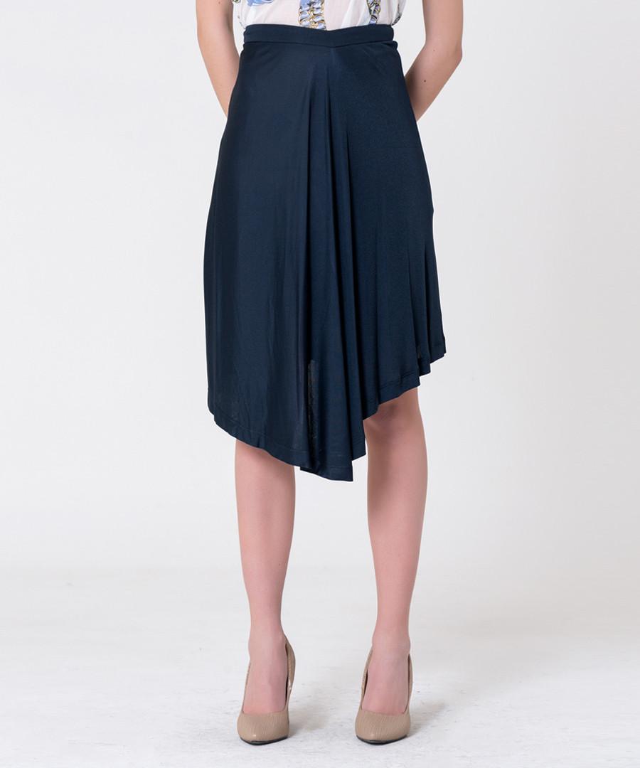 navy asymmetric pleated skirt Sale - gianfranco ferre