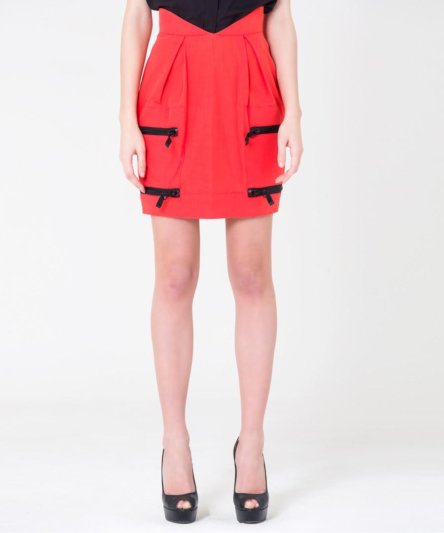 scarlet cotton & linen mini skirt Sale - gianfranco ferre