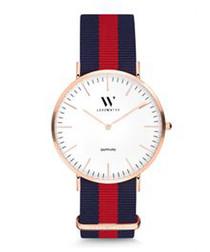 Love red & navy stripe watch