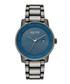 Blue dial & gunmetal link strap watch Sale - ken cole Sale