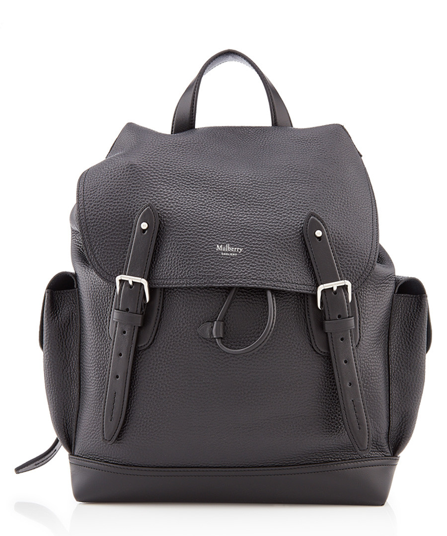 Heritage black leather backpack Sale - mulberry