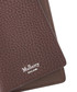 Chocolate grain leather card holder Sale - mulberry Sale