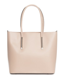 Mallero cipria leather shopper bag