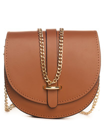 Fiora tan leather crossbody