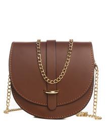 Fiora brown leather crossbody