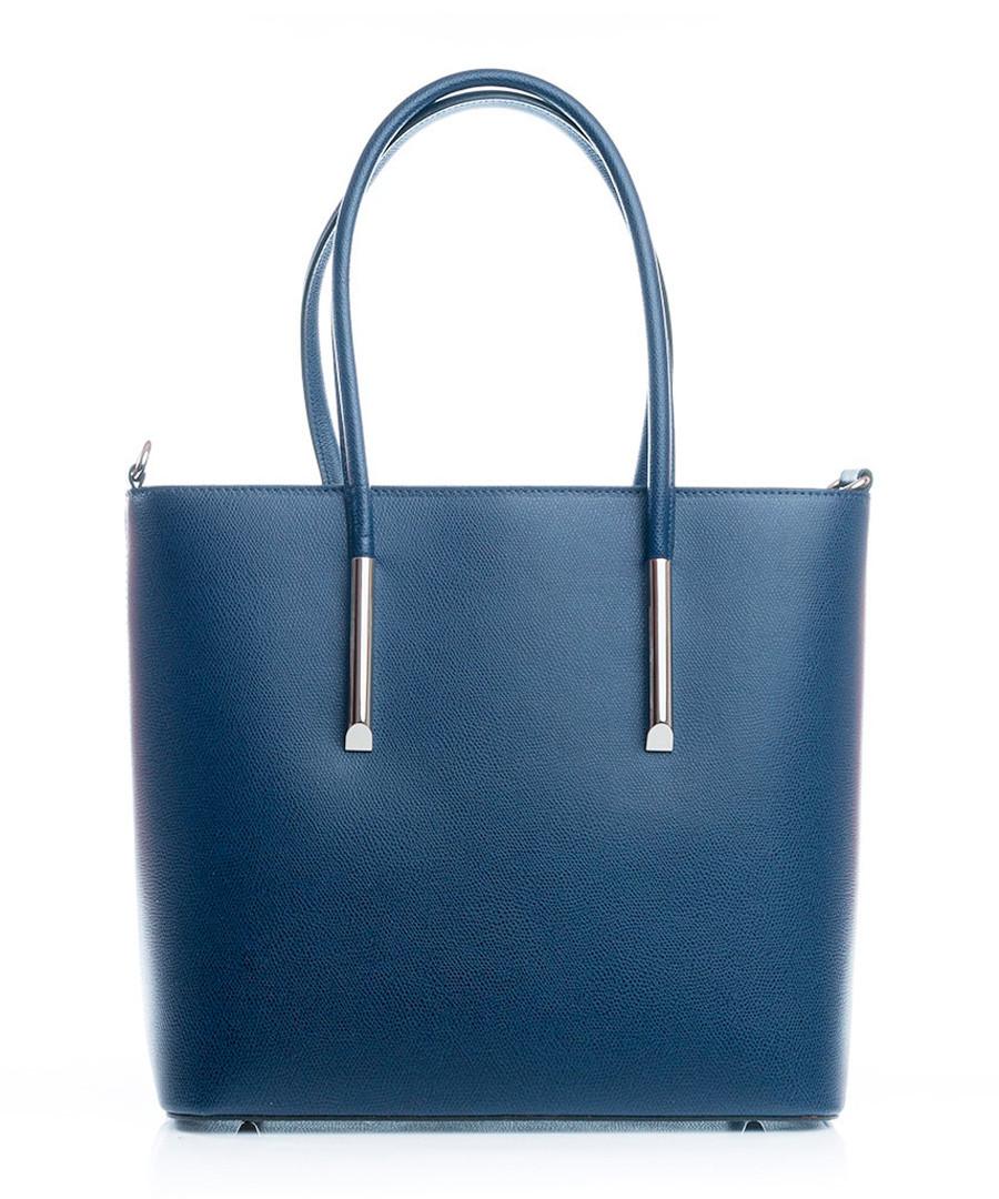 Chiusi blue leather shopper bag Sale - lucca baldi