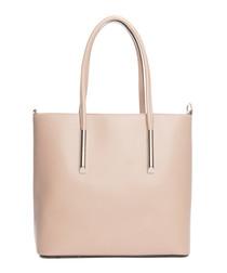 Chiusi cipria leather shopper bag