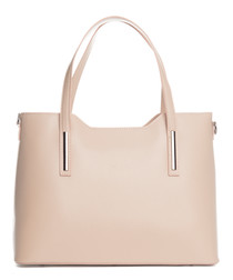 Murlo cipria leather shopper bag