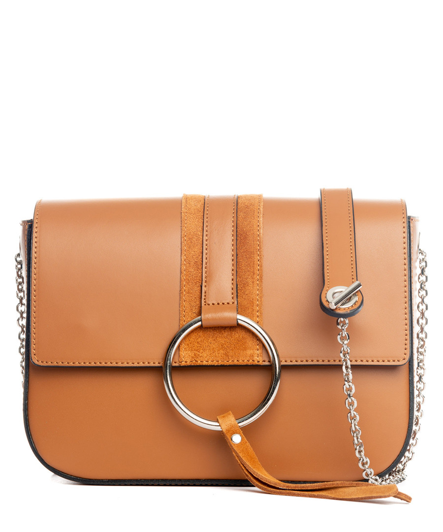 Santa fiora tan leather crossbody Sale - lucca baldi