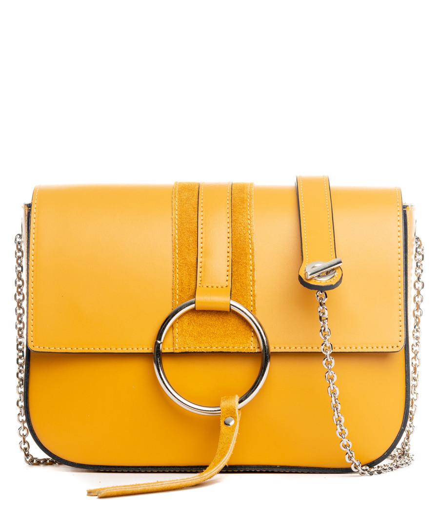 Santa fiora yellow leather crossbody Sale - lucca baldi