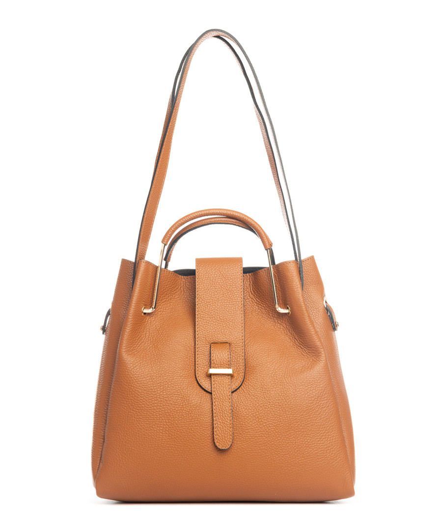 Vinci tan leather shoulder bag Sale - lucca baldi