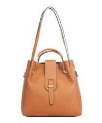 Vinci tan leather shoulder bag