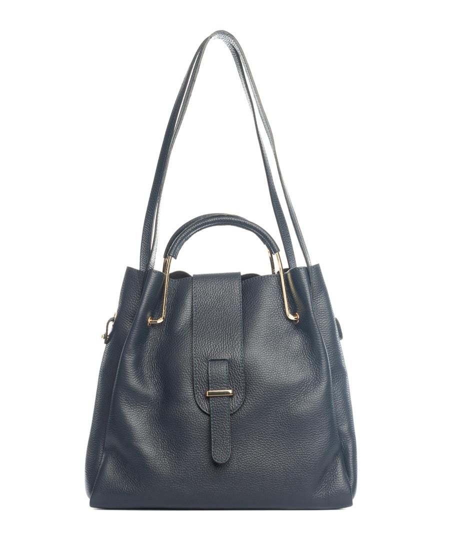 Vinci blue leather shoulder bag Sale - lucca baldi