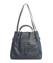 Vinci blue leather shoulder bag