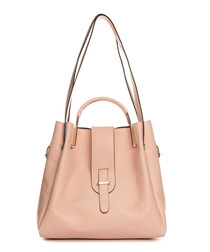 Vinci pink leather shoulder bag