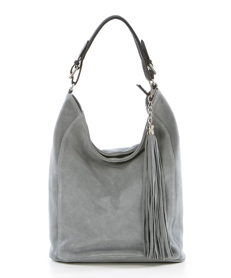 Monte petrella grey tassel shoulder bag Sale - pia sassi