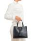 Monte pisanino black leather grab bag Sale - pia sassi Sale