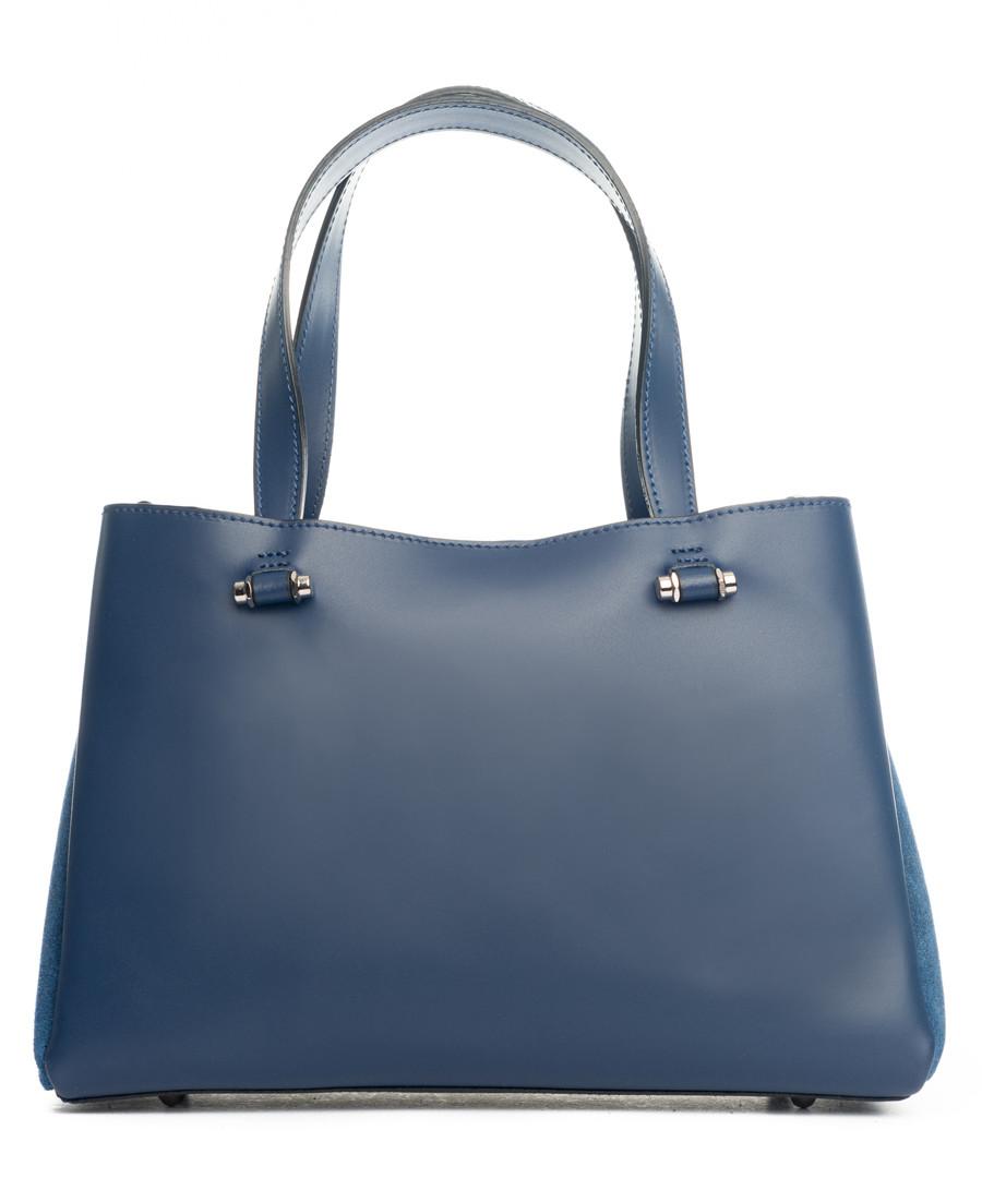 Monte terminillo blue leather shopper Sale - pia sassi