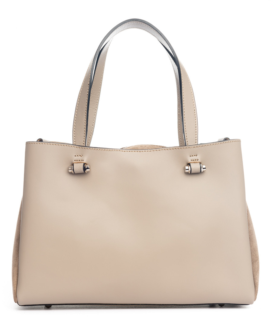 Monte terminillo taupe leather shopper Sale - pia sassi