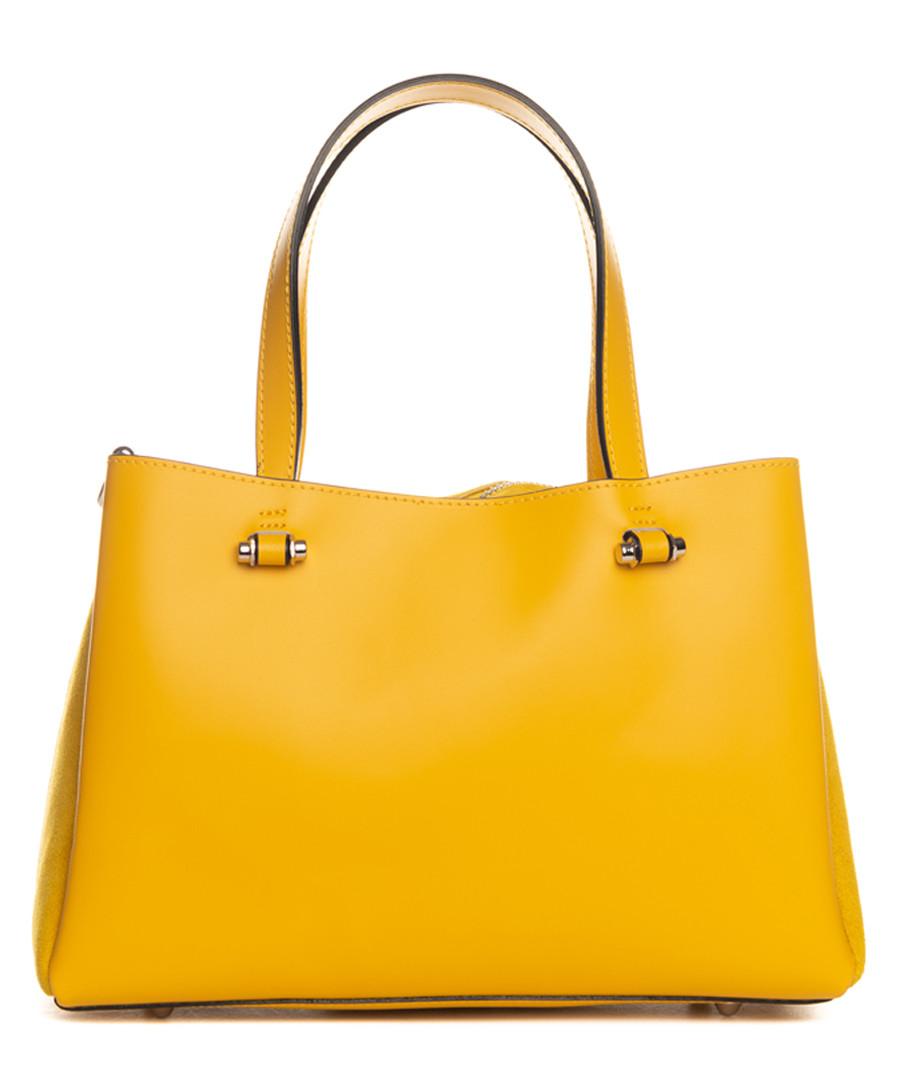 Monte terminillo yellow leather shopper Sale - pia sassi