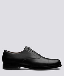 Louis black leather oxford shoes