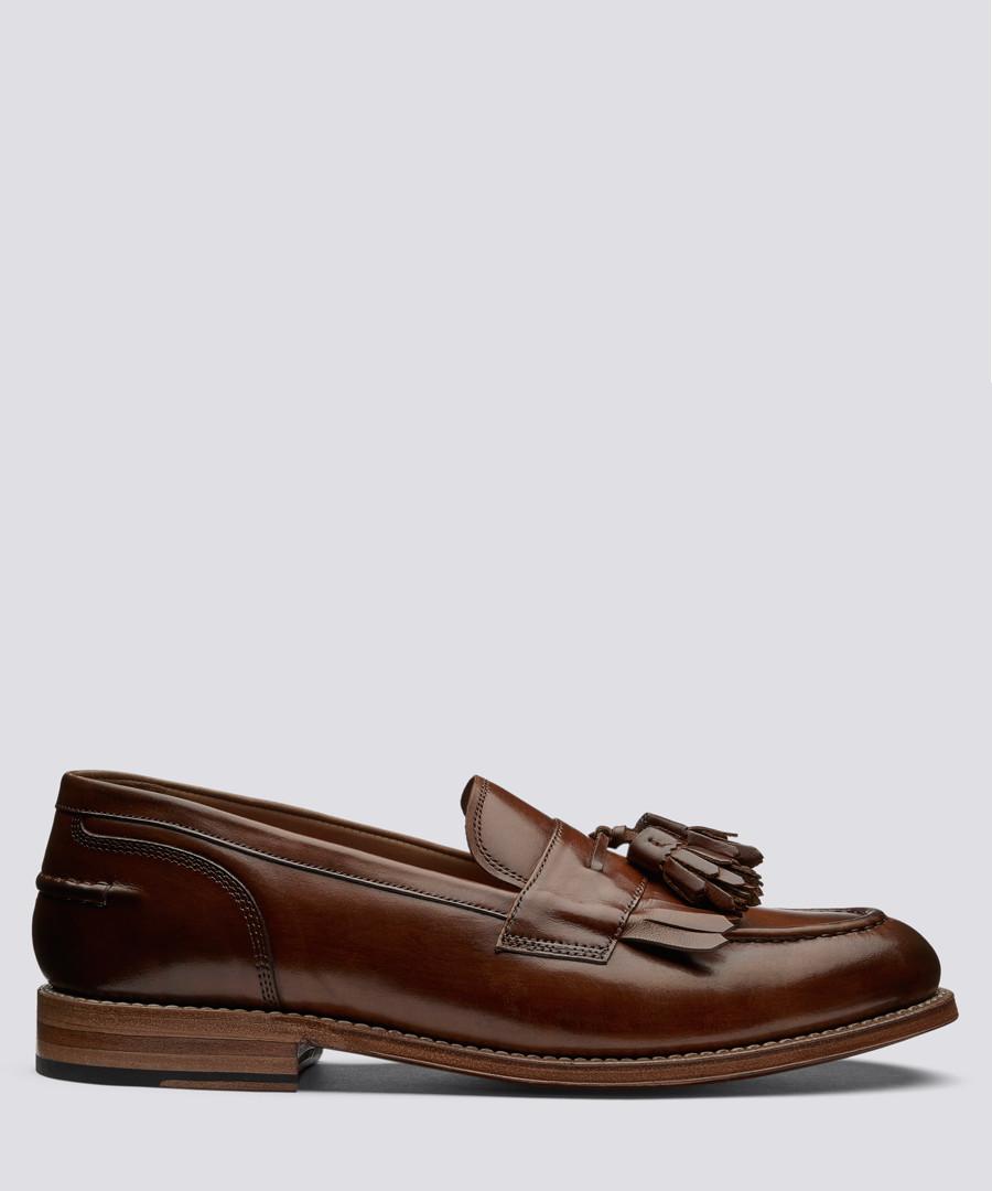 Mackenzie tan leather tassel loafers Sale - Grenson