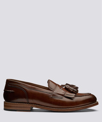 Mackenzie tan leather tassel loafers