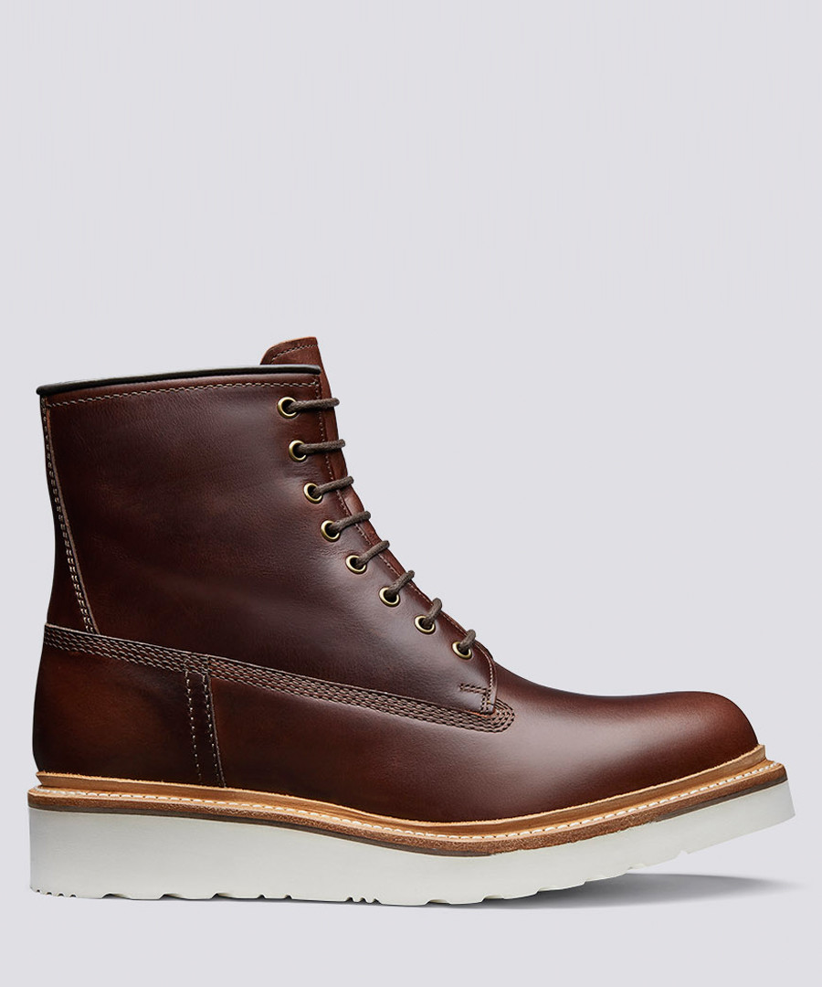Arnold chestnut leather boots Sale - Grenson