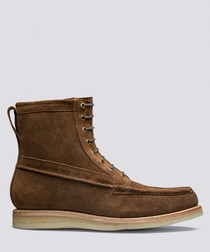 Garrett tan suede boots