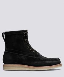 Garrett black suede boots