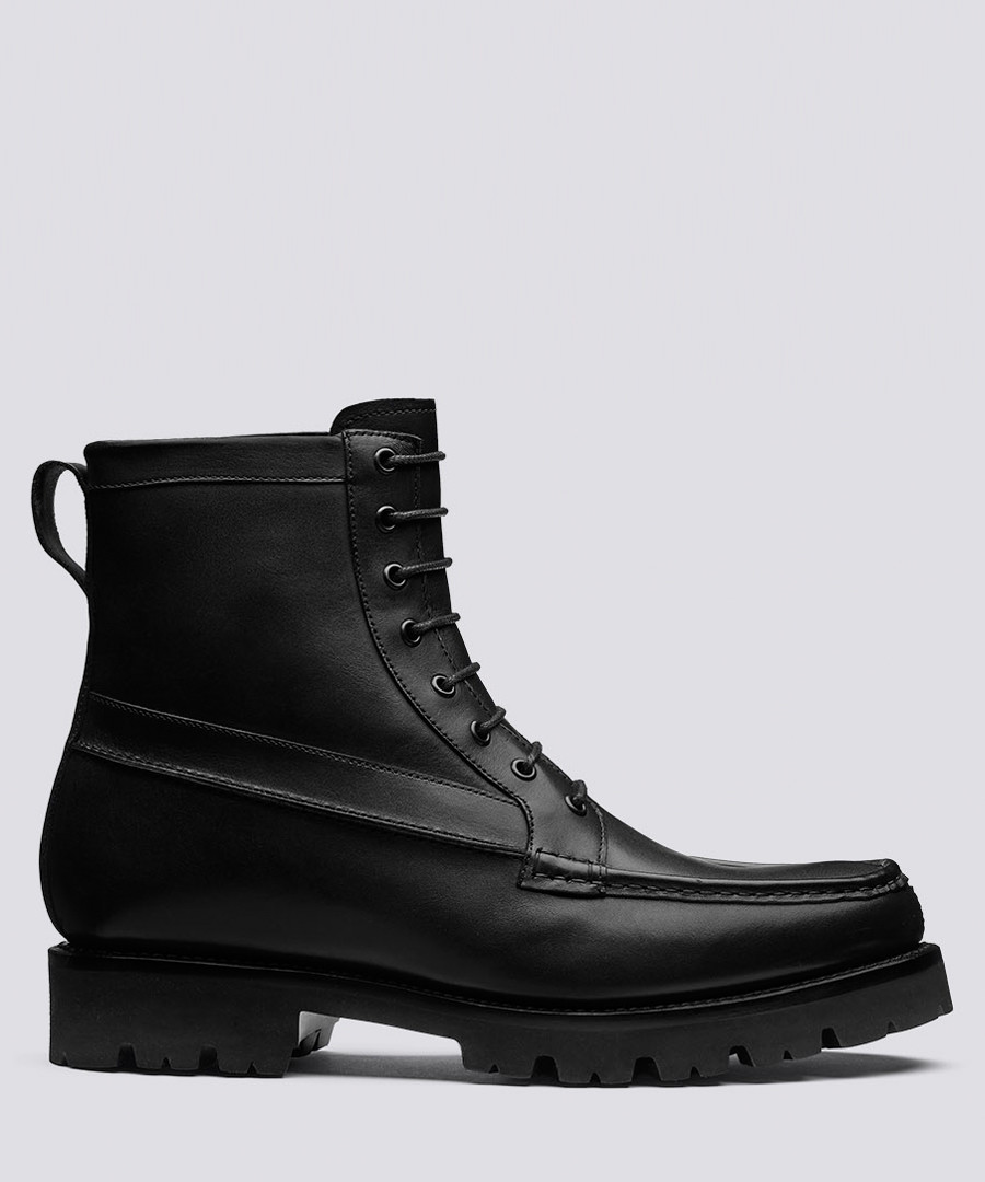 Gulliver black calf leather boots Sale - Grenson