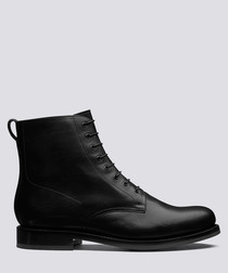 Murphy black calf leather boots