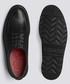 Barnett black leather flat derby shoes Sale - Grenson Sale
