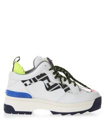 Trex white leather logo sneakers