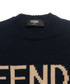 Navy pure virgin wool logo jumper Sale - fendi Sale