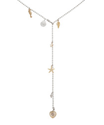 Barbados shell & gold-plate necklace