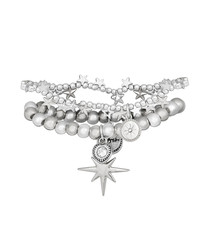 Orion silver-plated layer bracelet
