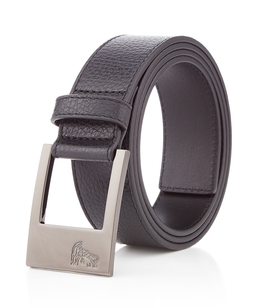 Black leather minimal belt Sale - versace collection