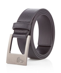 Black leather minimal belt