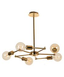 gold-tone metal cluster chandelier