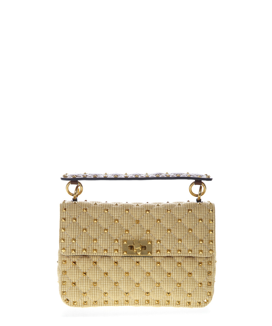 Ochre quilted rockstud shoulder bag Sale - valentino garavani