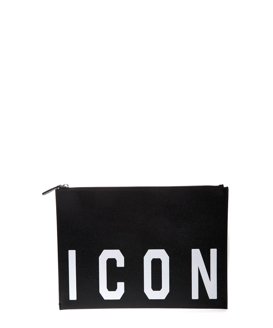 Black leather Icon clutch Sale - dsquared2