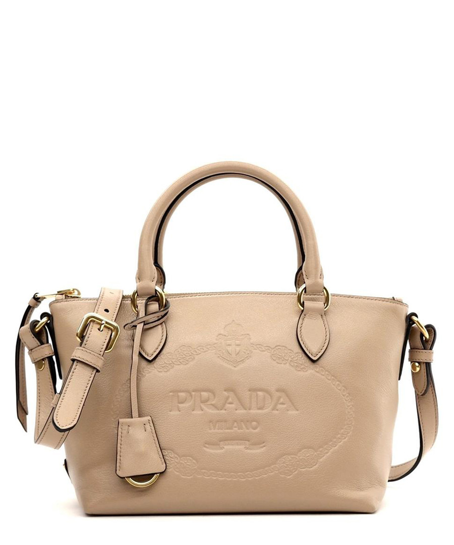Glace beige calf leather grab bag Sale - prada